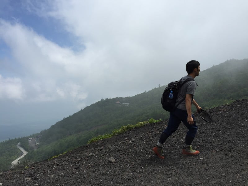 富士山五合目行山