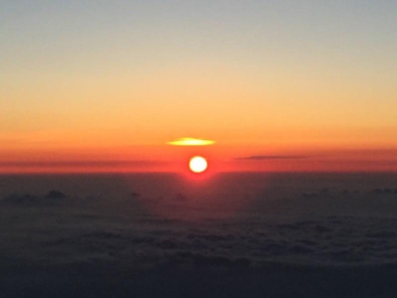 富士山山上日出