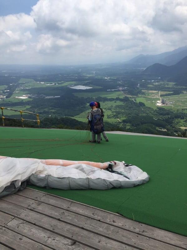滑翔傘起飛平台