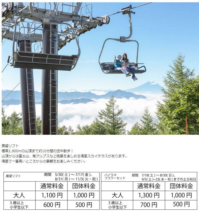 清里Sunmeadows 登山纜車