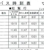 指宿砂樂會館巴士時刻表1