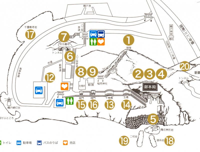 鵜戶神宮地圖