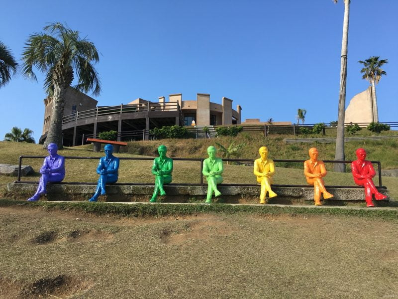 日南太陽花園裏的藝術品