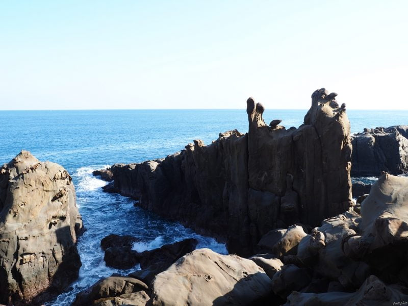鵜戶神宮外的崖邊