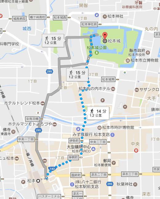 松本往松本城