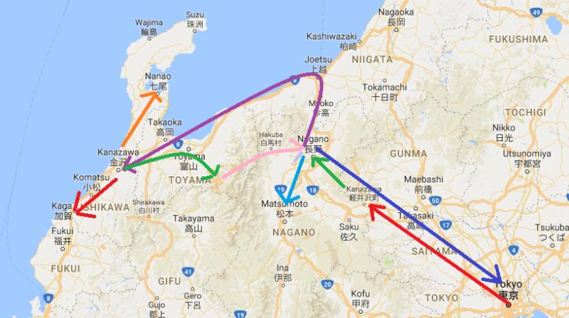 東京北陸七天之旅