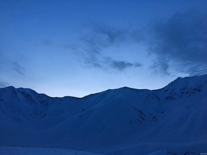 立山黑部日出