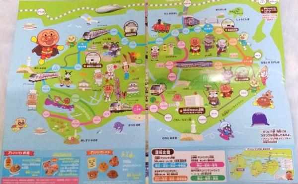 四國麵包超人列車地圖