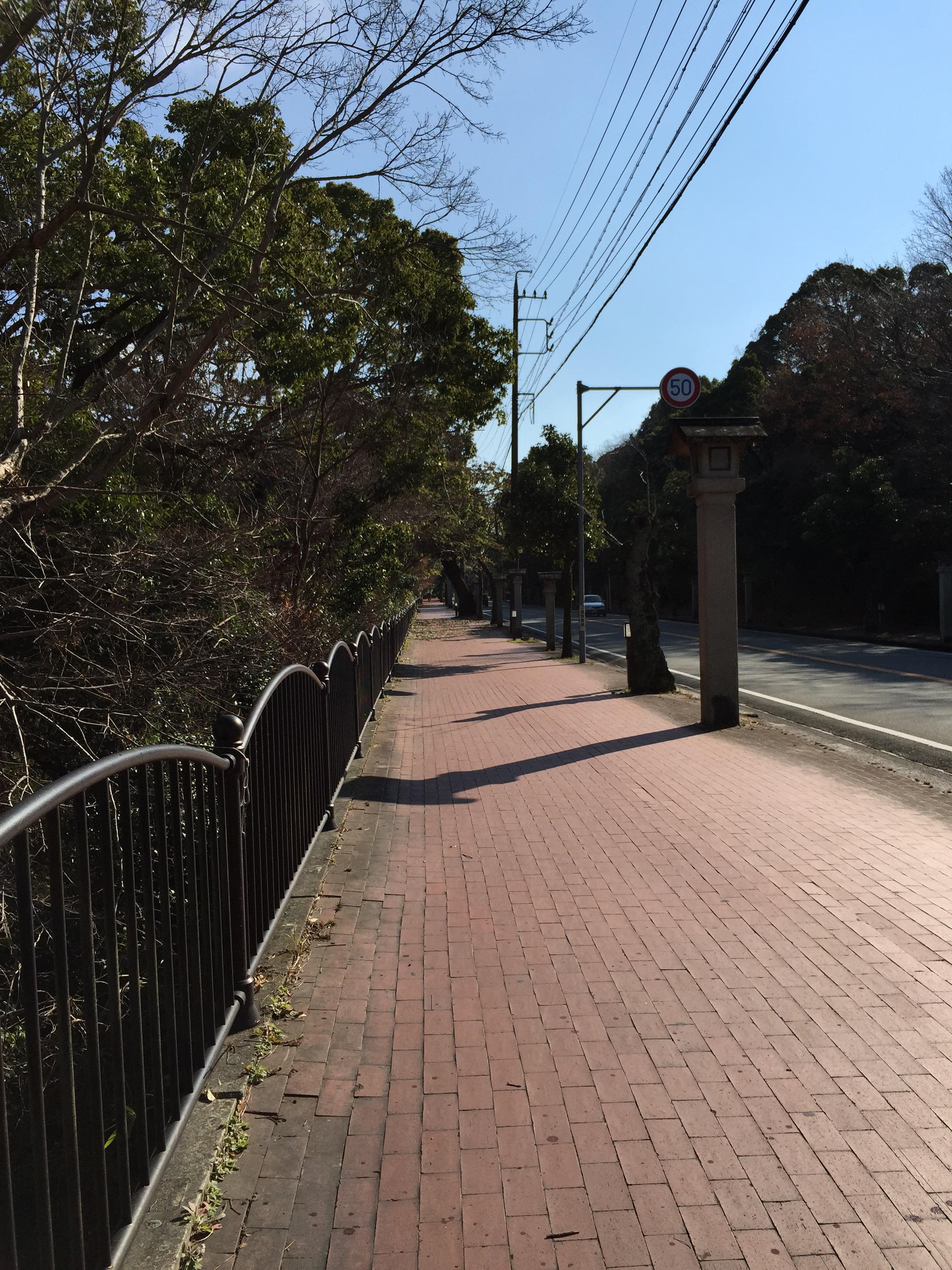 連接伊勢內宮和外宮的紅磚路