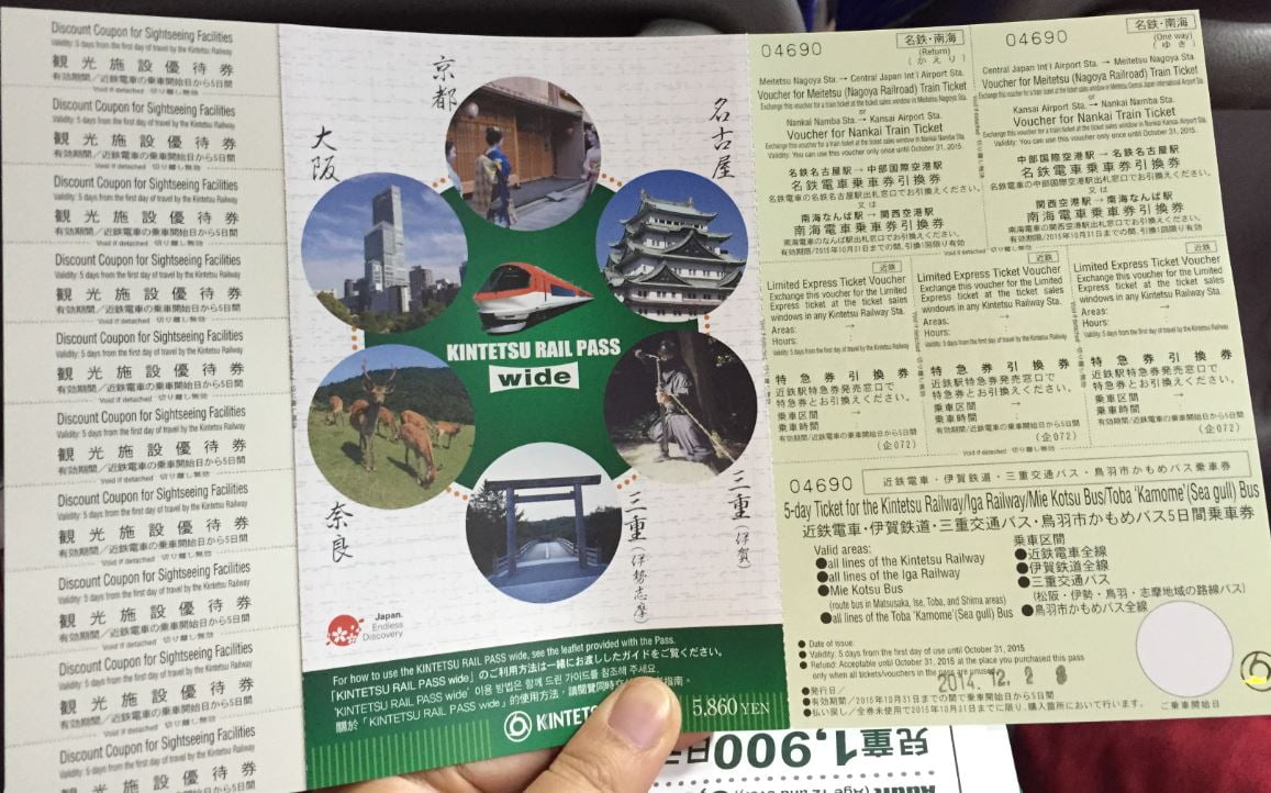 Kintetsu Rail Pass wide