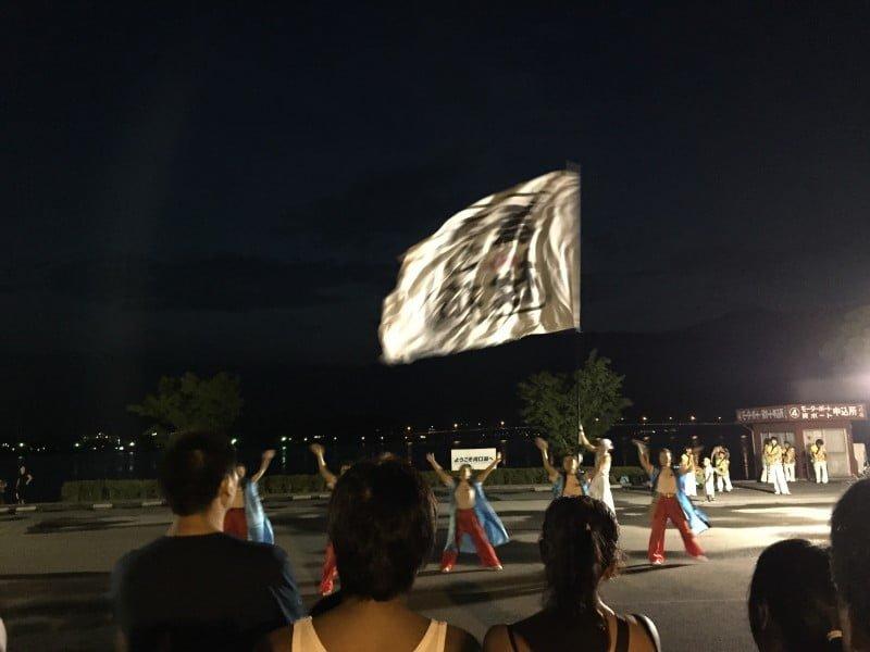 河口湖湖上祭舞蹈表演