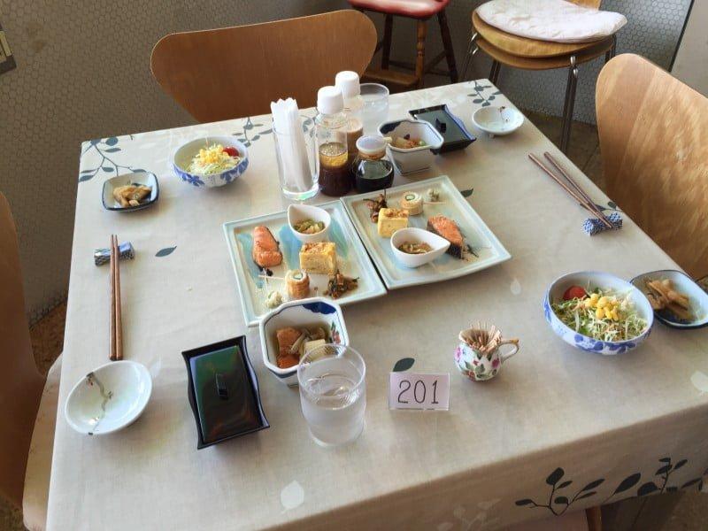 富士登山旅館日式早餐