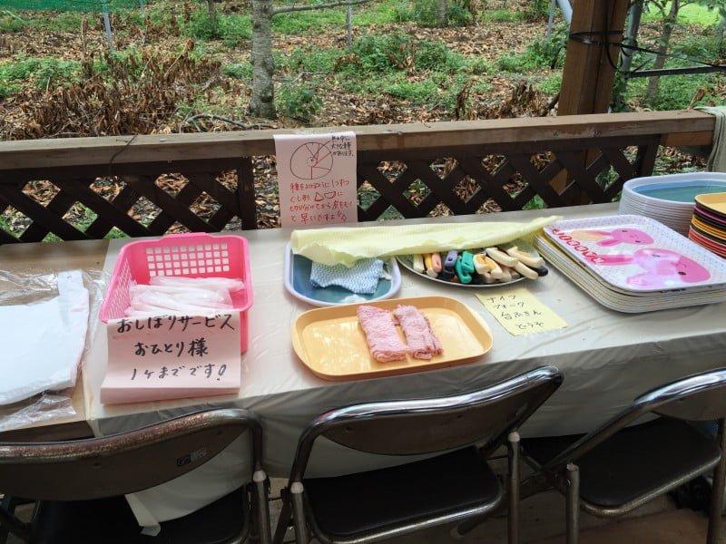くぬぎ観光農園的自助餐具