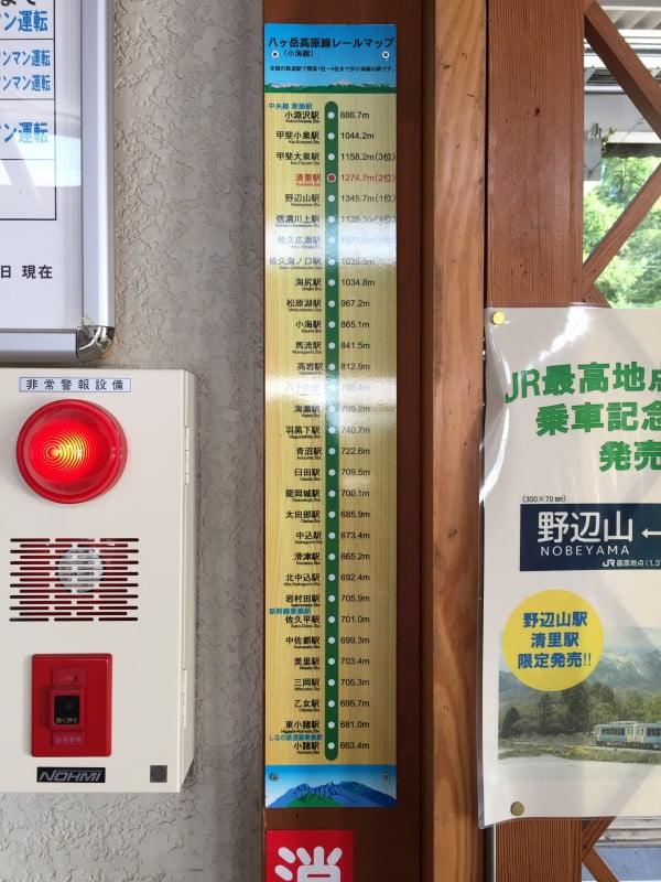各駅高度表示