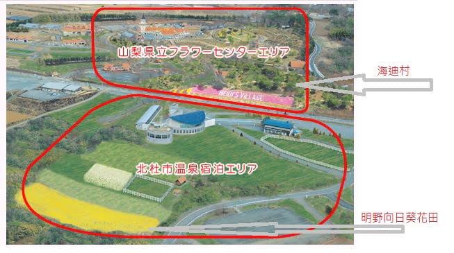 海迪村和向日葵花田的位置