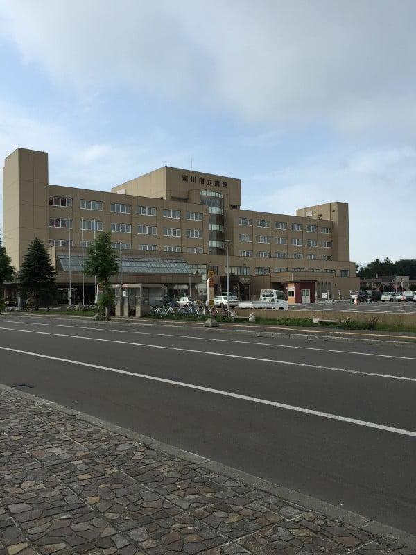 深川市立病院駅前