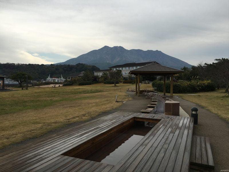 櫻島溶岩公園的足湯