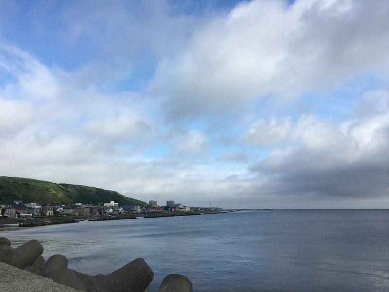 北防波堤外的海景