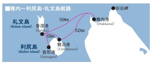 稚內利尻島禮文島航線