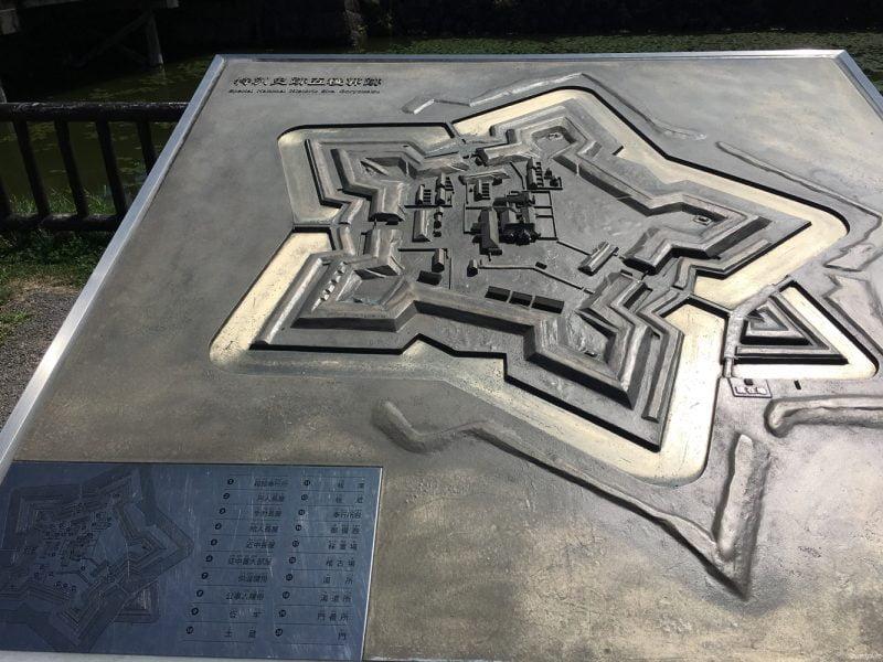 五稜郭公園的形狀